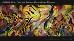 Fear and Courage Discussing a Problem, 40 x 90 c?, ABP